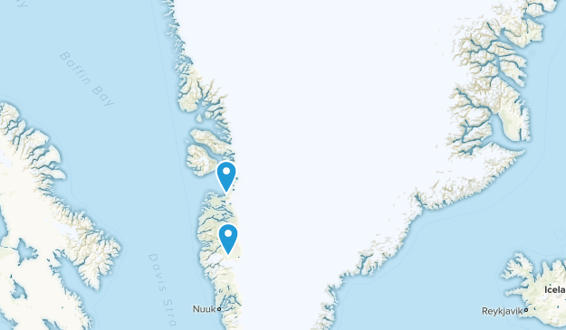 Greenland Cities Map