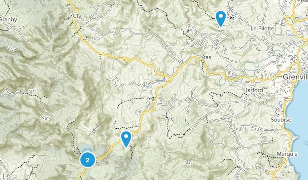 Granada Regions Map