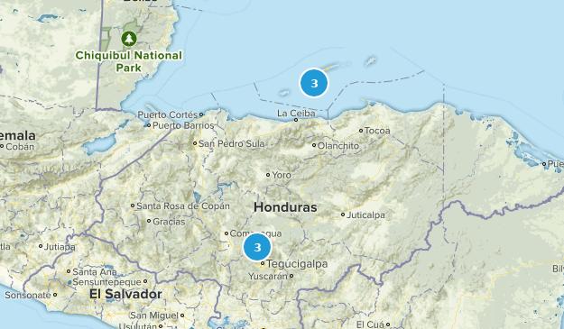 Honduras Regions Map