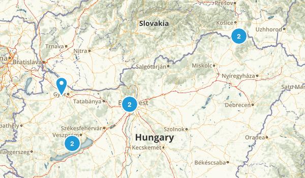 Hungary Regions Map