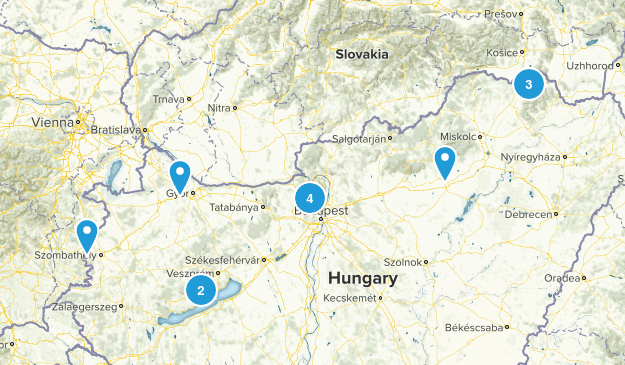 Hungary Cities Map