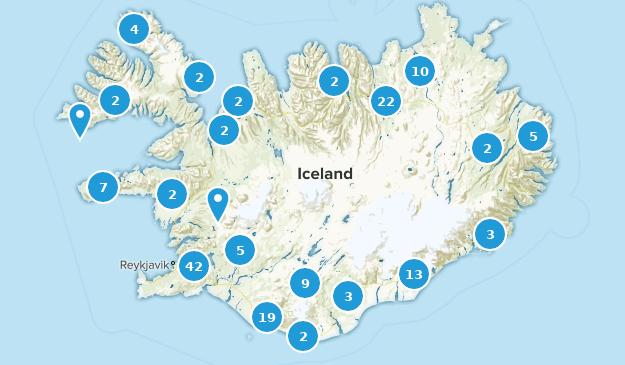 Islandia Regions Map