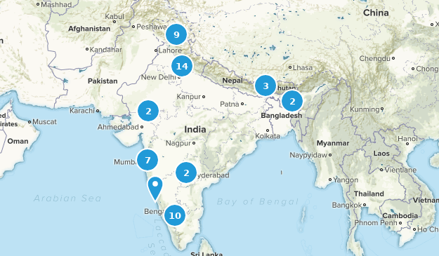 India Cities Map