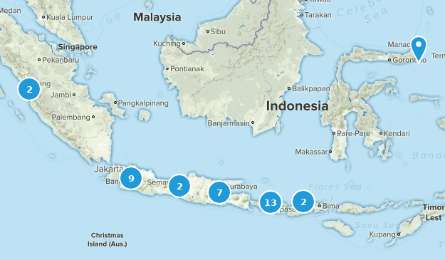 Indonesia Cities Map