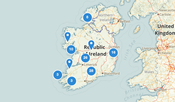 trail locations for Ireland