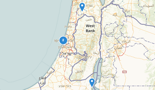 trail locations for Israel
