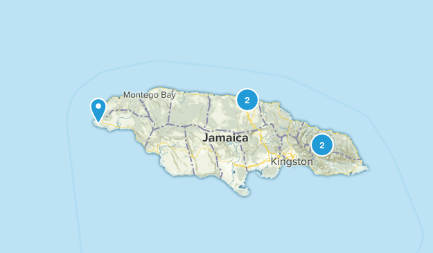 Jamaica Cities Map