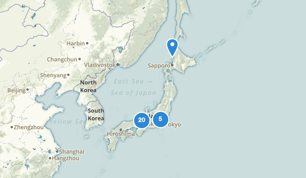 trail locations for Japan