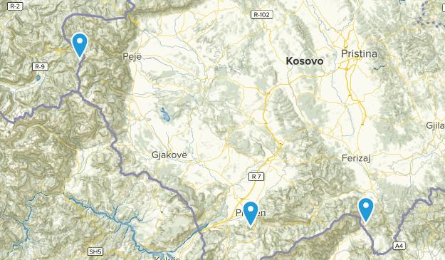 Kosovo Cities Map
