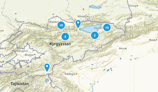 Kyrgyzstan Cities Map