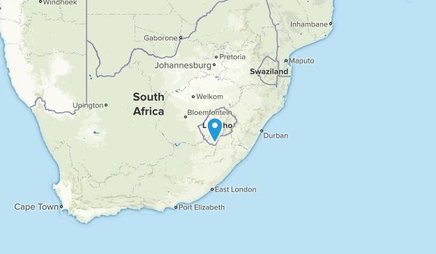 Lesoto Regions Map