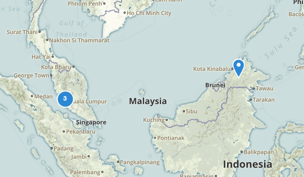 trail locations for Malaysia