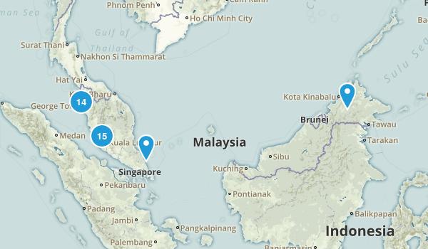 Malaysia Regions Map