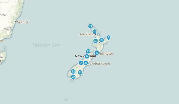 New Zealand Regions Map