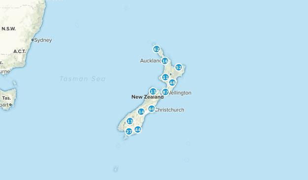 New Zealand Regions Map.Best Regions In New Zealand Alltrails