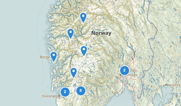 trail locations for Norway
