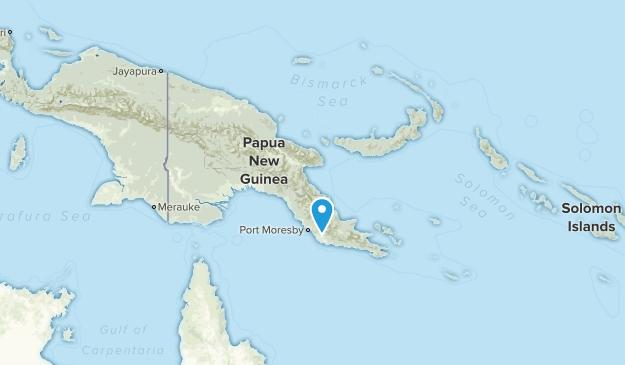 Papúa Nueva Guinea Regions Map