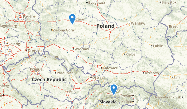 trail locations for Poland