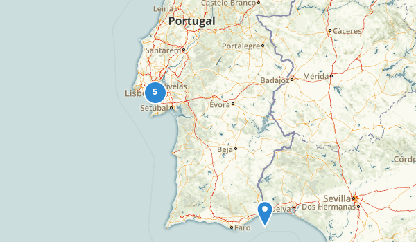 trail locations for Portugal