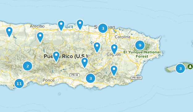 Puerto Rico Regions Map