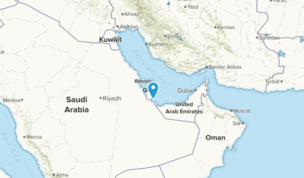 Katar Cities Map