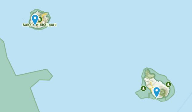 Sint Eustatius Regions Map