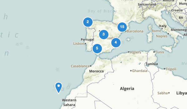 trail locations for Spain