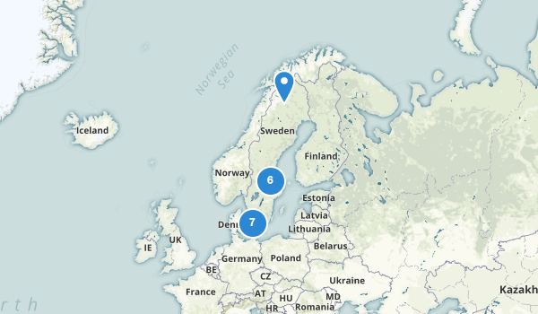 trail locations for Sweden