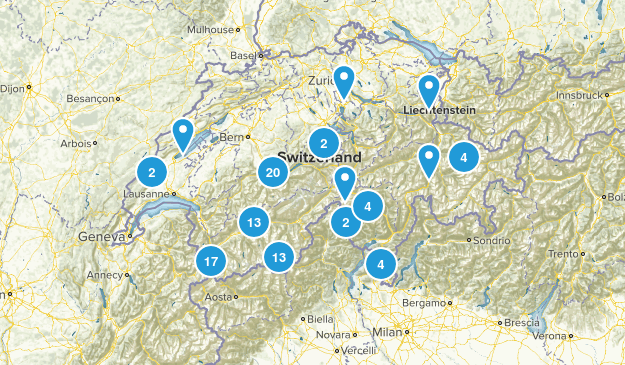 Switzerland Cities Map