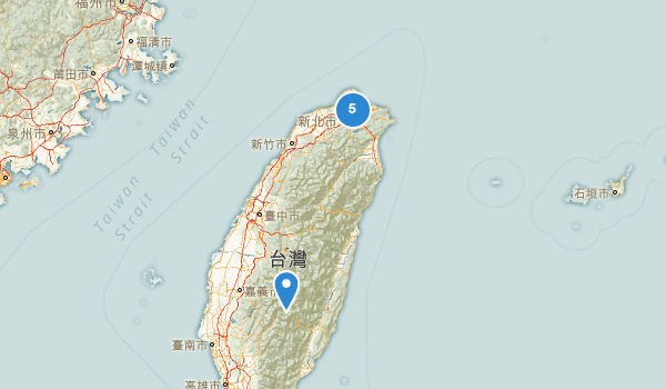 trail locations for Taiwan