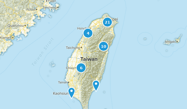 Taiwan Cities Map