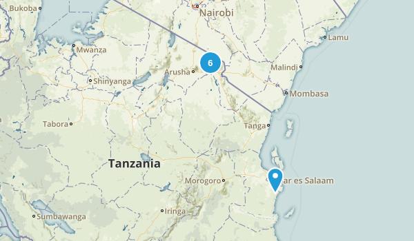 Tanzania Regions Map