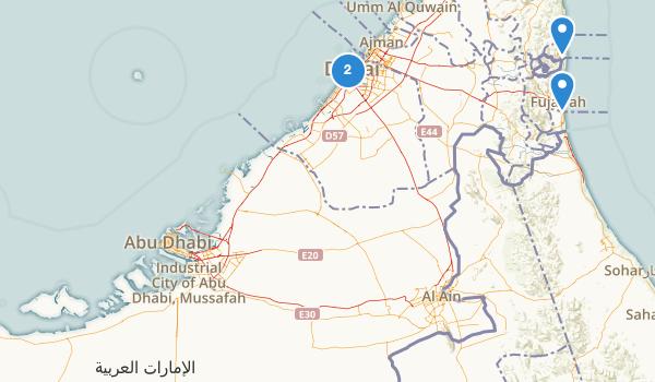 trail locations for United Arab Emirates