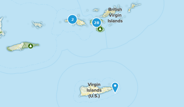 Best Trails In Us Virgin Islands Alltrails - Map-us-virgin-islands-and-british-virgin-islands