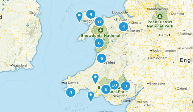 Wales Regions Map