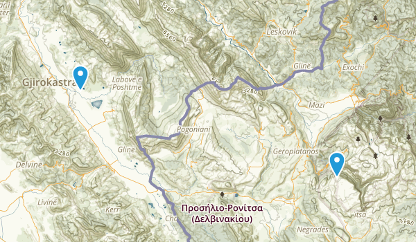 Gjirokastër, Albania Map