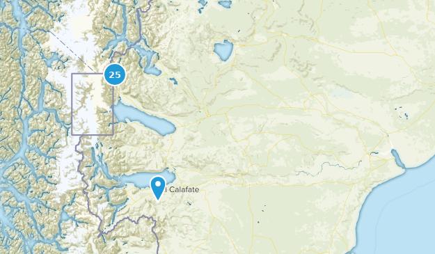 Santa Cruz, Argentina Cities Map