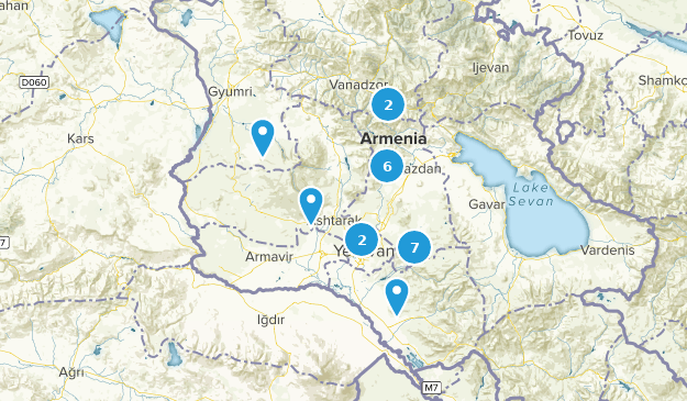 Kotayk, Armenia Cities Map