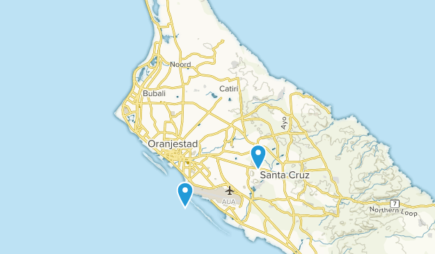 Aruba, Aruba Cities Map
