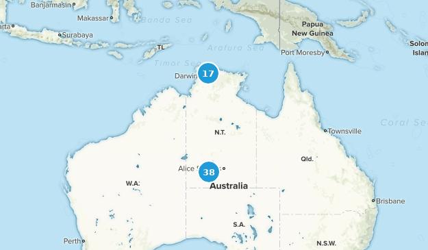 Northern Territory, Australia Cities Map