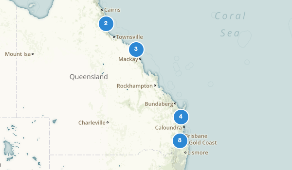 trail locations for Queensland, Australia