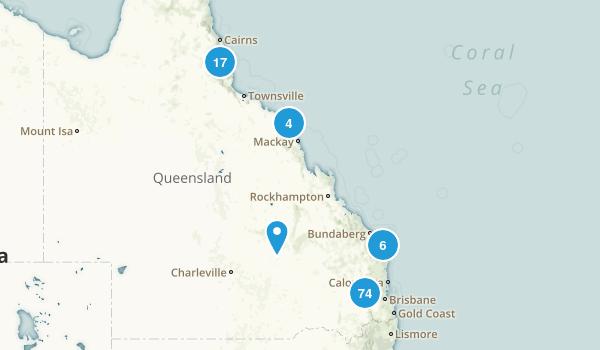 Queensland Photos Reviews For Hiking Biking Trail Running - Queensland australia map