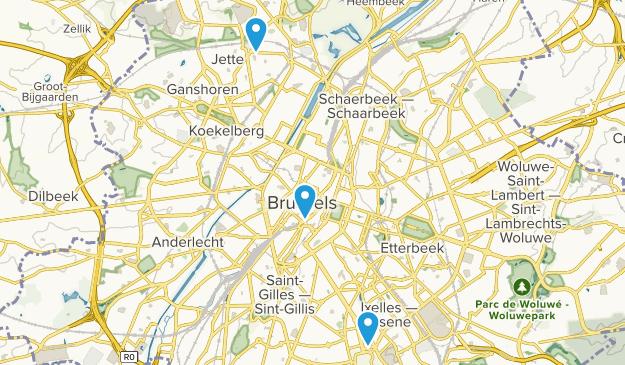 Region Brüssel-Hauptstadt, Belgien Map