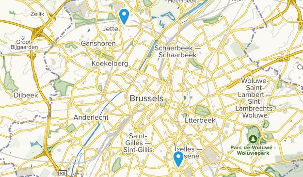 Brussels-Capital Region, Belgium Map