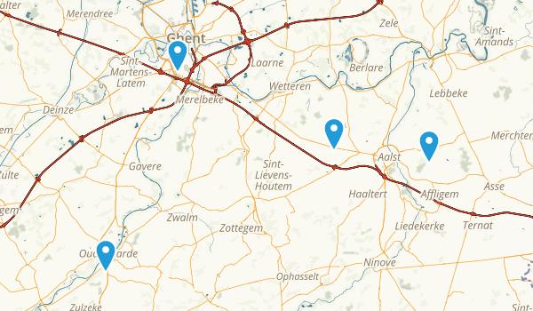 Oost-Vlaanderen, Belgium Map