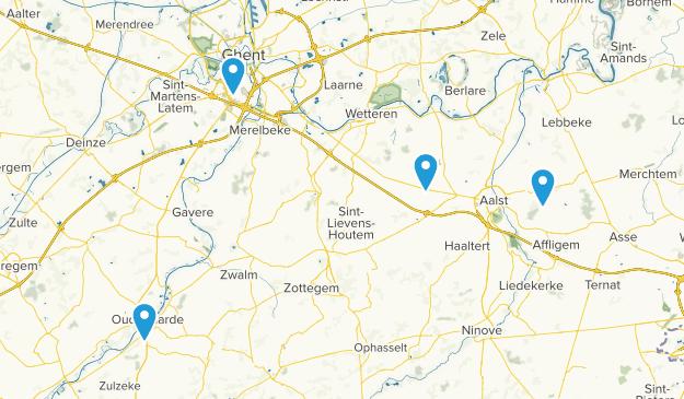 Oost-Vlaanderen, Belgium Cities Map