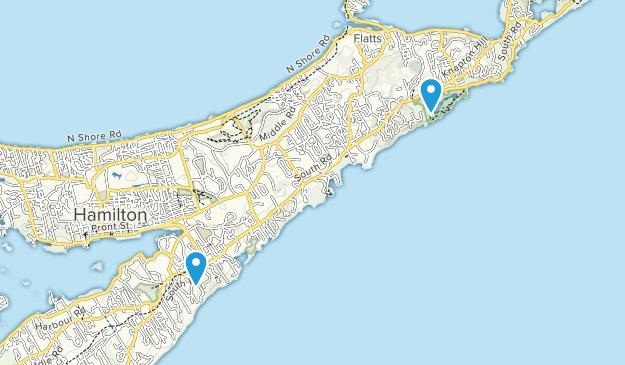Smith's, Bermuda Map
