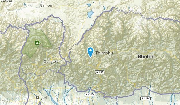 Paro, Bhutan Map