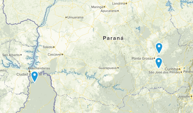 Parana, Brazil Cities Map