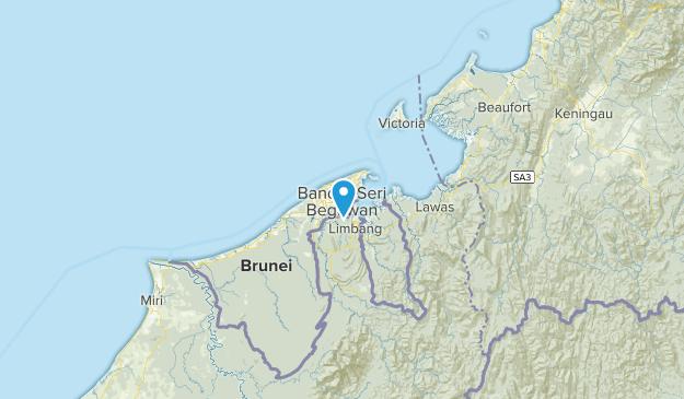 Brunei and Muara, Brunei Map
